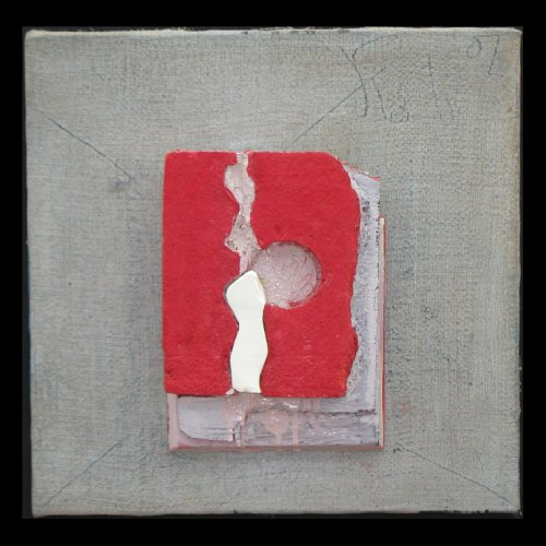 click to view large image of Untitled Study: Red, gray, white